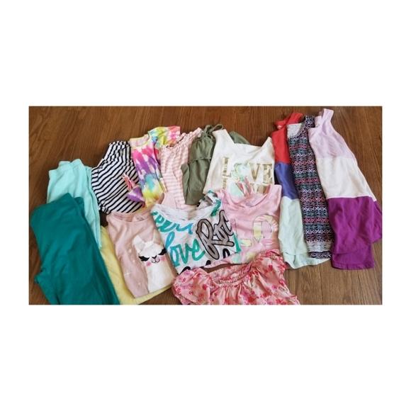 15 Piece Girls Summer Tops & Pants